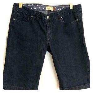 Paige dark wash jean Bermuda shorts